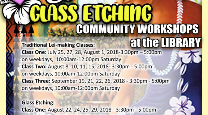 Hawaiian Lei-Making & Glass Etching Workshop