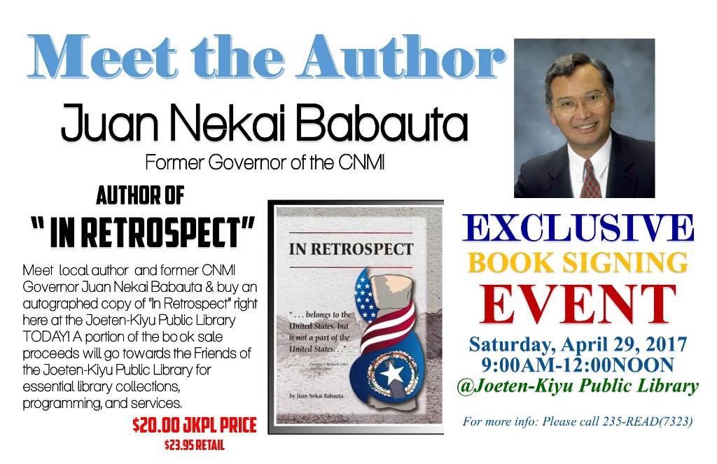 Book Signing Event: Juan Nekai Babauta