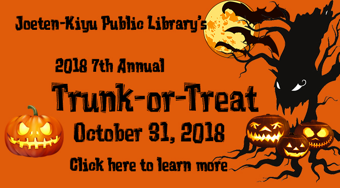 JKPL's 7th Annual Trunk-or-Treat